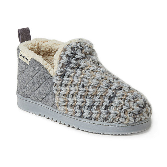 Dearfoams Knit And Felt Womens Bootie Slippers