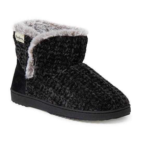 Dearfoams Chenille Knit Womens Bootie Slippers