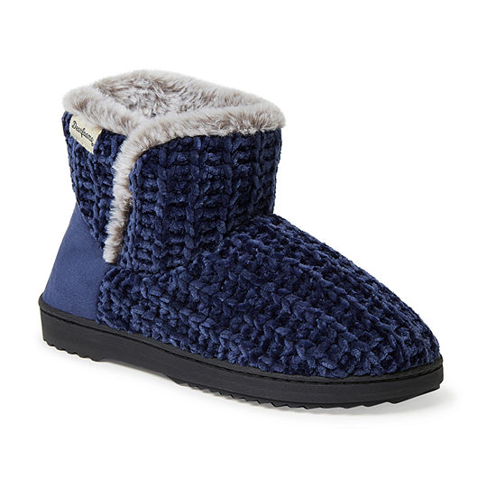 Dearfoams Chenille Knit Womens Bootie Slippers