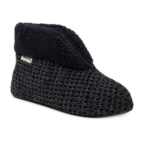 Dearfoams Knit Womens Bootie Slippers