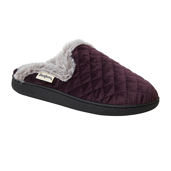 Dearfoams Quilted Scuff Womens Clog Slippers Wide Width