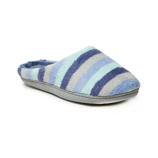 Dearfoams Quilted Terry Womens Clog Slippers Wide Width