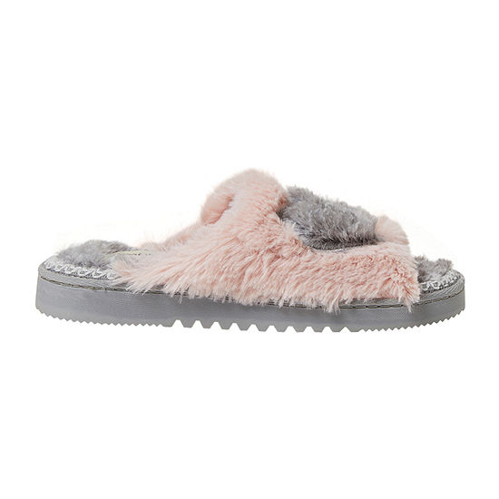 Dearfoams Pile Slide Womens Slip-On Slippers