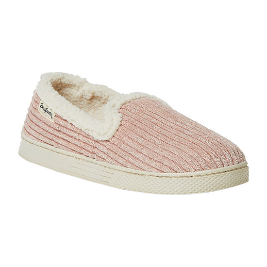 Dearfoams Corduroy Closed Back Womens Slip-On Slippers