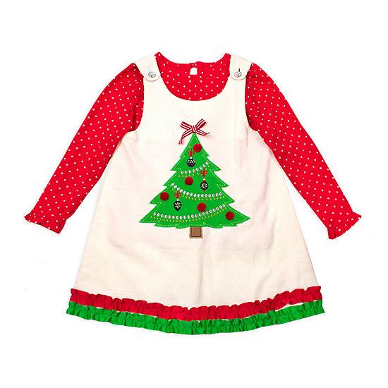 Nanette Baby Girls Sleeveless Jumper - Toddler