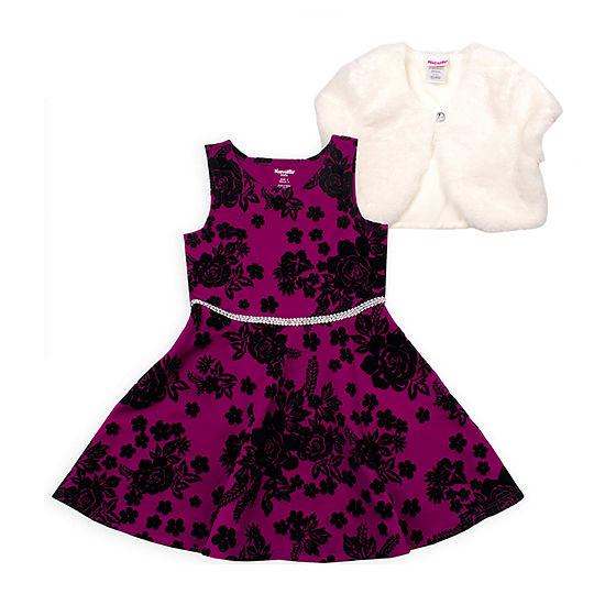 Nanette Baby Girls Sleeveless Fit & Flare Dress - Toddler