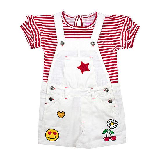 Nanette Baby Girls 2-pc. Shortall Set Preschool