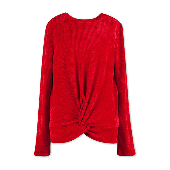 Speechless Big Girls Scoop Neck Long Sleeve Pullover Sweater
