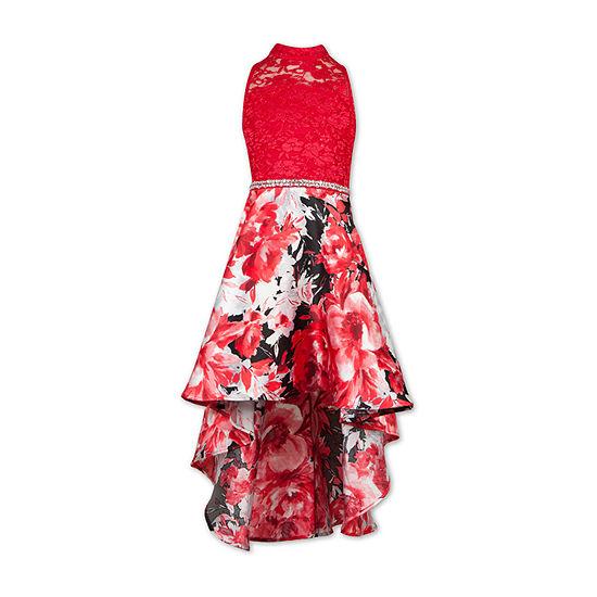 Speechless Big Girls Sleeveless High-Low Party Dress