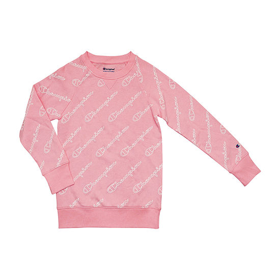 Champion Girls Crew Neck Long Sleeve Sweatshirt - Big Kid
