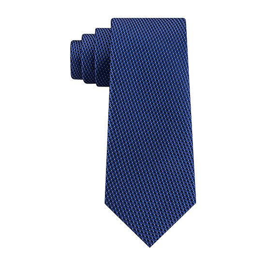 JF J.Ferrar 2 Tone Solid Tie With Tie Bar