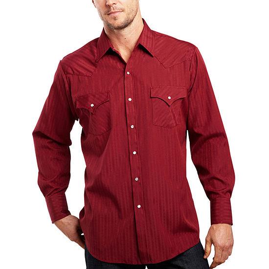 Ely Cattleman® Long-Sleeve Tonal Snap Shirt
