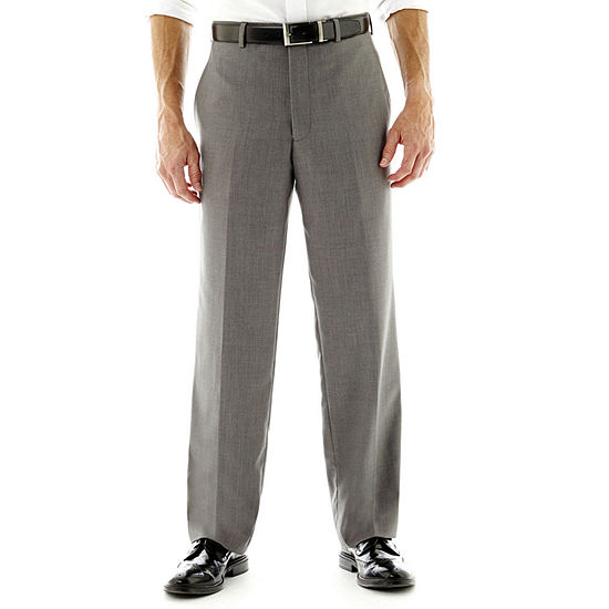 Men's JF J. Ferrar® Gray Sharkskin Flat-Front Classic Fit Suit Pants