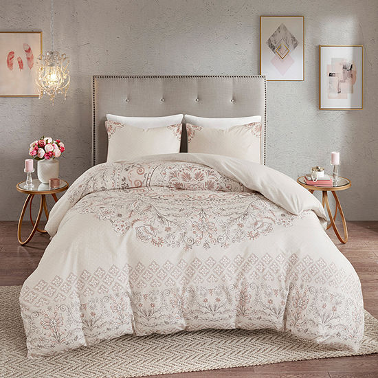 Madison Park Evelyn 3-pc. Medallion Reversible Duvet Cover Set