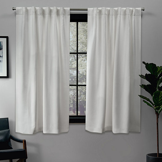 Sateen Energy Saving Blackout Back-Tab Curtain Panel