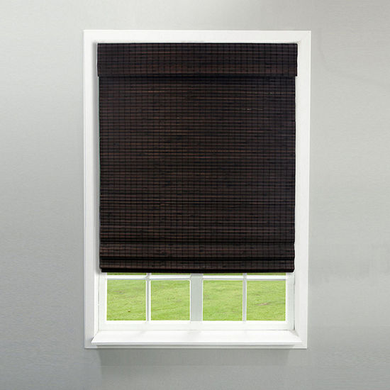 Radiance Newport Cordless Bamboo Privacy Weave Roman Shade