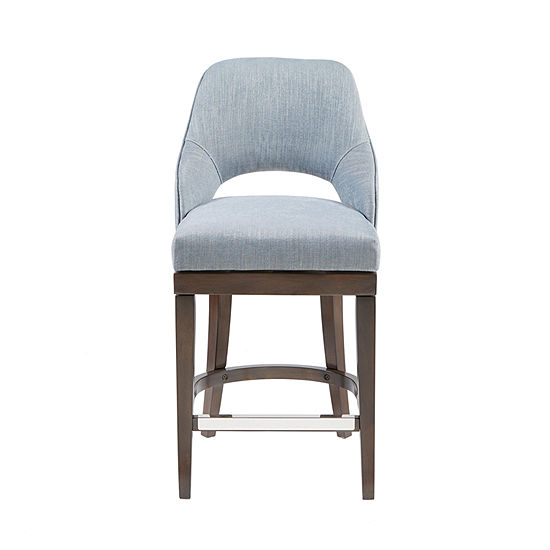 Madison Park Marshall Counter Height Upholstered Swivel Bar Stool