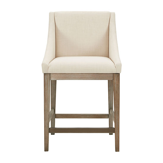 Madison Park Reed Counter Height Upholstered Bar Stool
