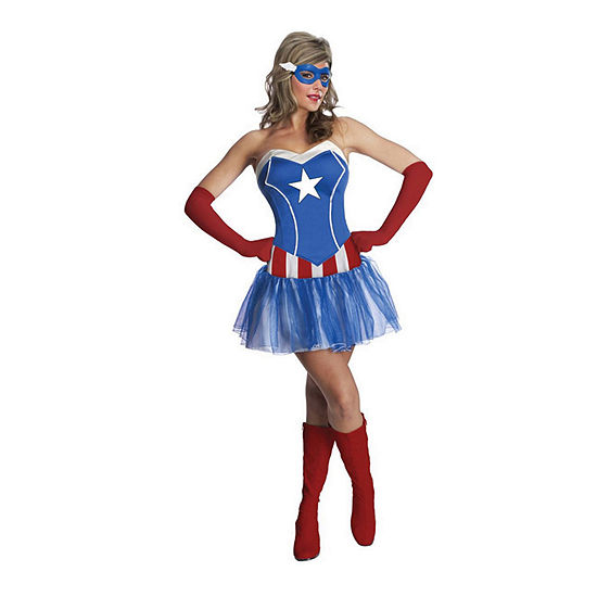 Avengers Adult American Dream 4-pc.Dress Up Costume Womens