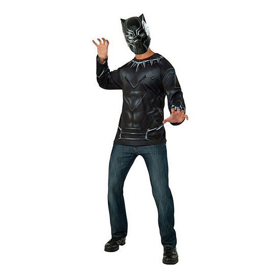Black Panther Adult Top And Mask 2-pc. Dress Up Costume Mens