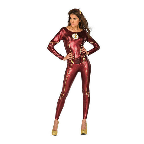 Justice League The Flash Female Adult 3-pc Dress Up Costume Womens