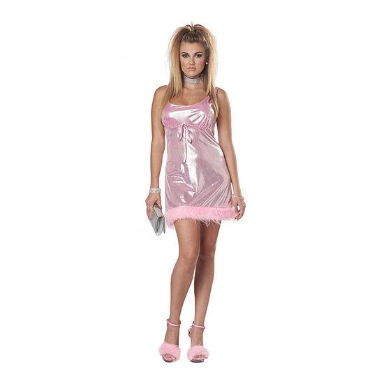 Adult High School Reunion Pink Mini Dress Up Costume Womens