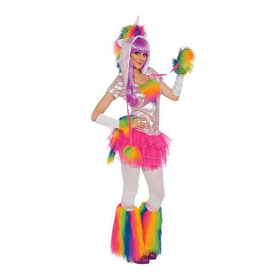 Rainbow Unicorn Adult 6-pc. Dress Up Costume Womens