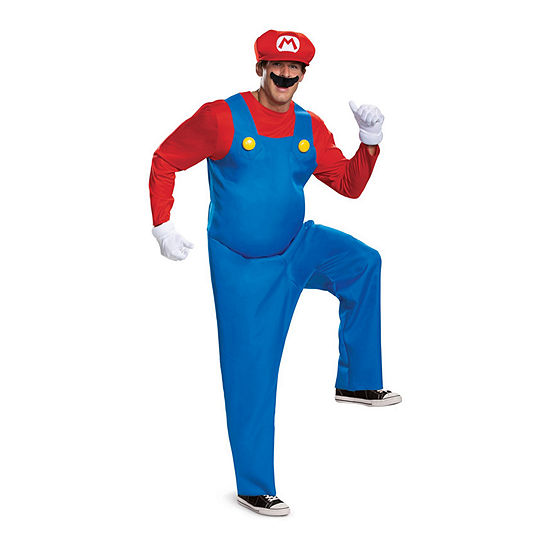 Super Mario Deluxe Adult 5-pc Dress Up Costume Mens