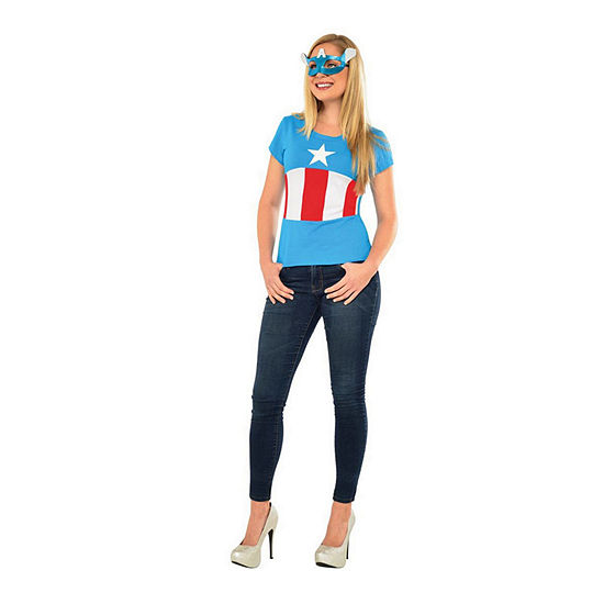 Avengers American Dream Adult Top And Mask 2-pc Dress Up Costume Womens