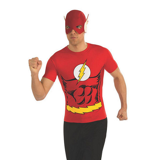 Men's The Flash Top Justice League Dress Up Costume