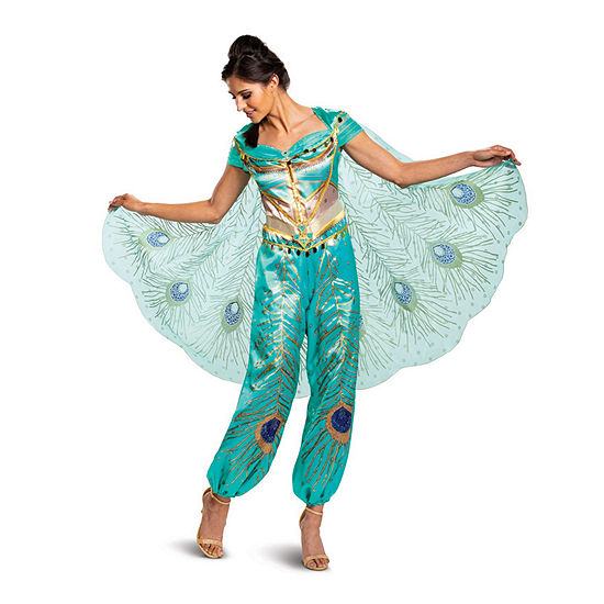 Disney Aladdin: Jasmine Teal Deluxe Adult 2-pc.Dress Up Costume Womens