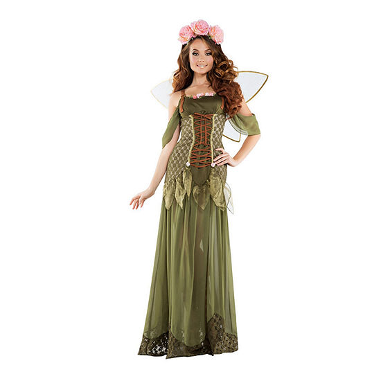 Adult Rose Fairy Princess 3-pc. Dress Up Costume Womens