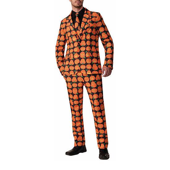 Pumpkin Suit & Tie Adult 3-pc. Dress Up Costume Mens