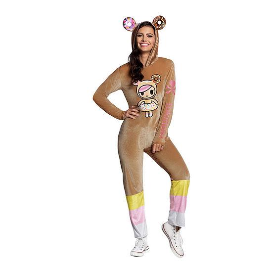 Toki Doki Donutella Jumpsuit Adult Dress Up Costume Womens