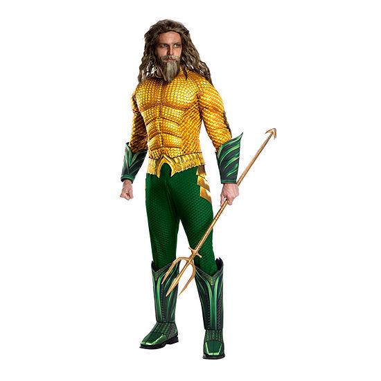Aquaman Movie Adult Deluxe 2-pc. DC Comics Dress Up Costume Mens