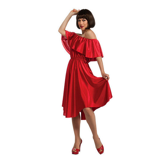 Adult Saturday Night Fever Red Dress Up Costume Womens