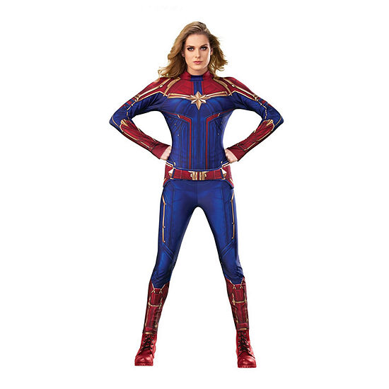 Captain Marvel Hero Suit Adult 2-pc. Dress Up Costume Womens