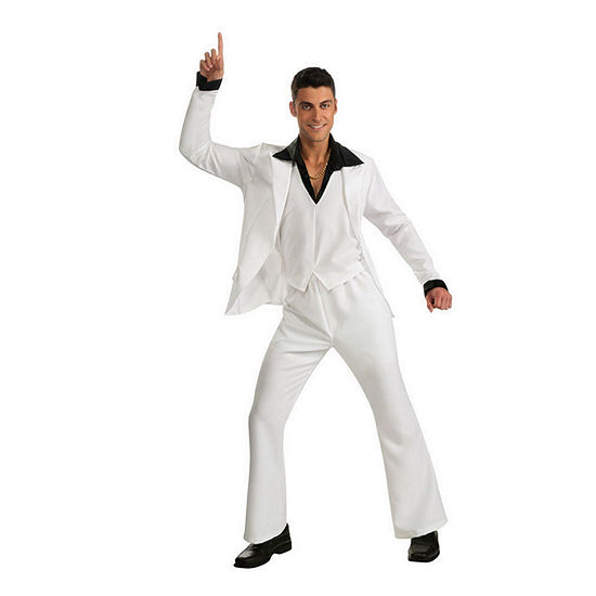 Adult Saturday Night Fever White Suit 3-pc. Dress Up Costume Mens