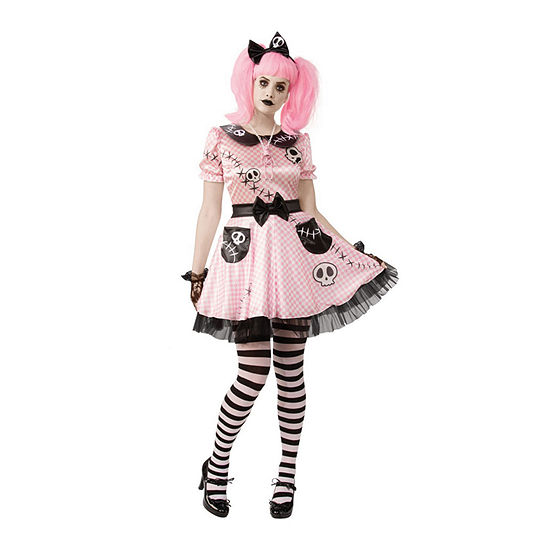 Pink Skelly Adult Costume