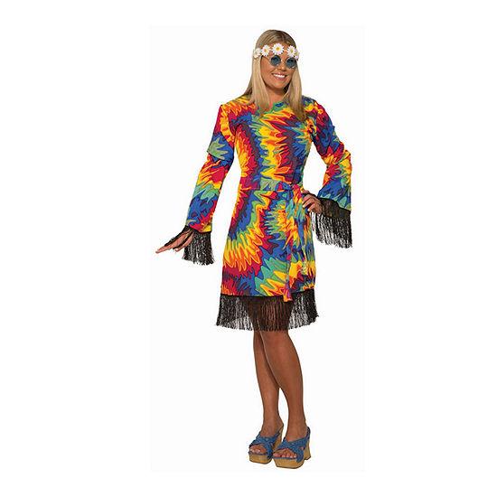 Hippie Tie Dye Plus Size 2-pc. Dress Up Costume Womens