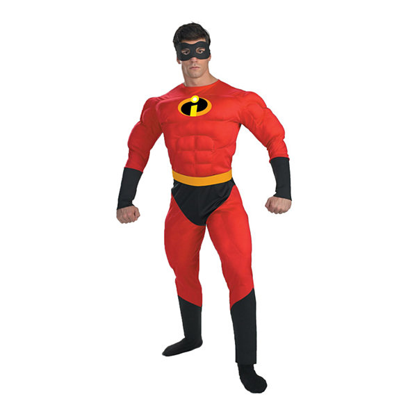 Disney Mr. Incredible Muscle Adult Dress Up Costume Mens
