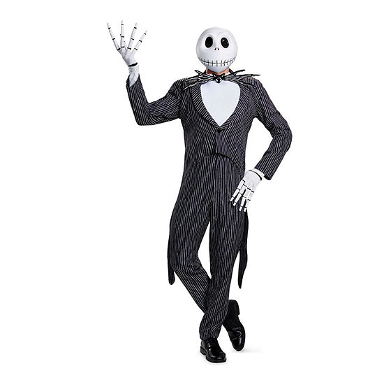 Disney Jack Skellington Prestige Adult Nightmare Before Christmas Dress Up Costume Mens