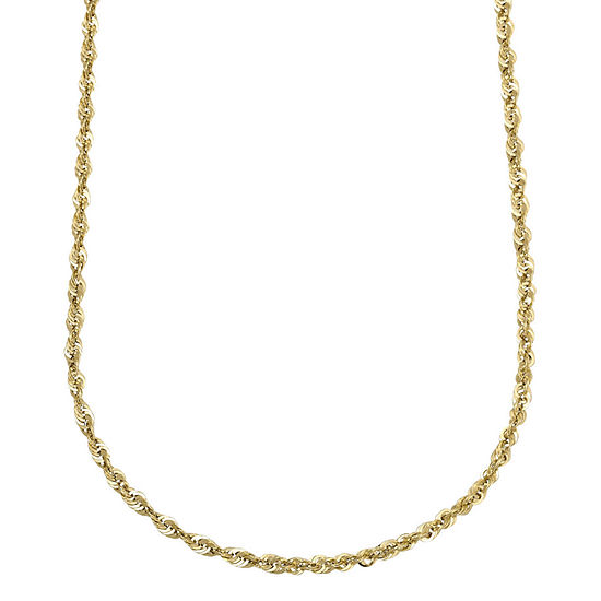 """10K Yellow Gold Hollow 18""""-24"""" Rope Chain"""