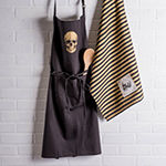 Design Imports Gold Skull Chef Apron