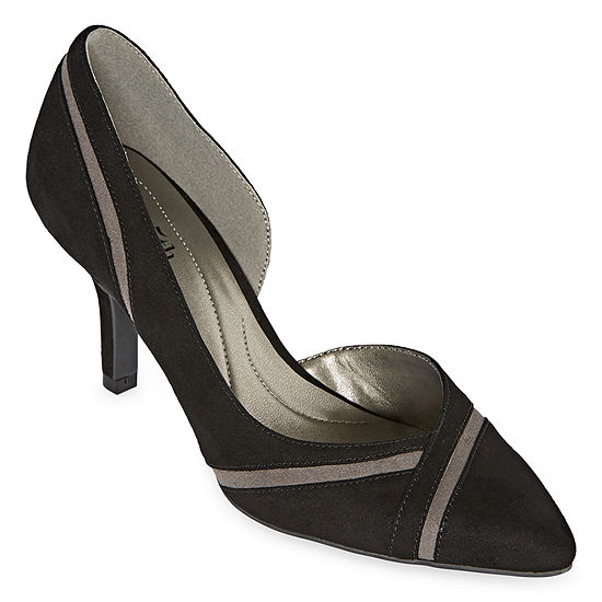 east 5th Womens Denny Pointed Toe Spike Heel Wide Width Pumps