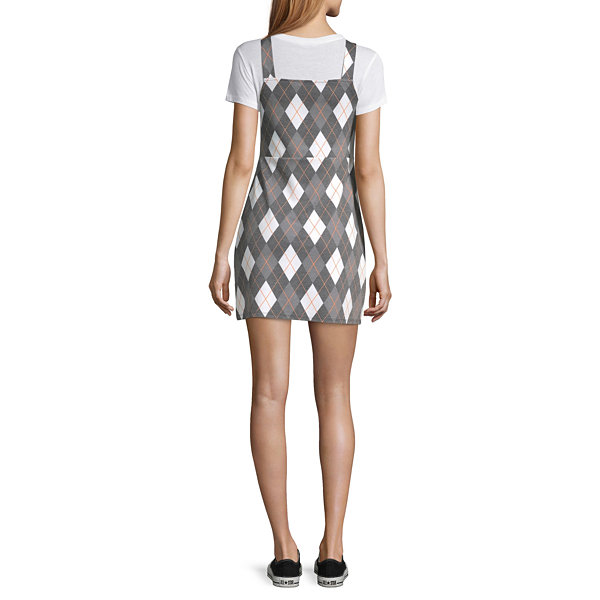 Arizona Sleeveless Argyle Bodycon Dress-Juniors