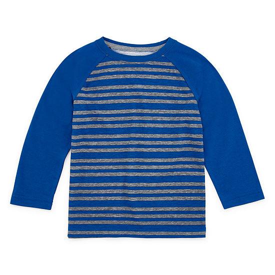 Okie Dokie Toddler Boys Crew Neck Long Sleeve T-Shirt