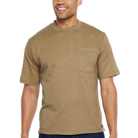 Men's Vintage Workwear Inspired Clothing Smith Workwear Short Sleeve Long Tail Pocket Tee With Gusset Large  Beige $20.40 AT vintagedancer.com