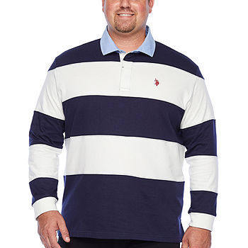 U.S. Polo Assn. Mens Long Sleeve Polo Shirt Big and Tall