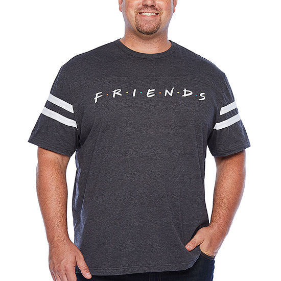 Big and Tall Mens Crew Neck Short Sleeve Graphic T-Shirt